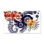 Turks and Caicos Flag 22x14 Wall Peel