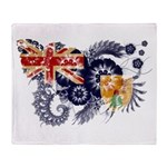 Turks and Caicos Flag Throw Blanket
