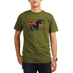 Turks and Caicos Flag Organic Men's T-Shirt (dark)