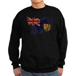 Turks and Caicos Flag Sweatshirt (dark)