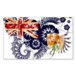 Turks and Caicos Flag Sticker (Rectangle 10 pk)