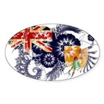 Turks and Caicos Flag Sticker (Oval 50 pk)