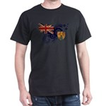 Turks and Caicos Flag Dark T-Shirt