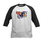 Turks and Caicos Flag Kids Baseball Jersey