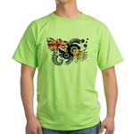 Turks and Caicos Flag Green T-Shirt