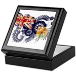Turks and Caicos Flag Keepsake Box