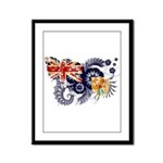 Turks and Caicos Flag Framed Panel Print