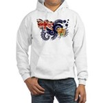 Turks and Caicos Flag Hooded Sweatshirt