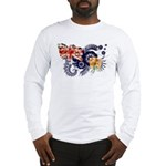 Turks and Caicos Flag Long Sleeve T-Shirt