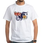 Turks and Caicos Flag White T-Shirt