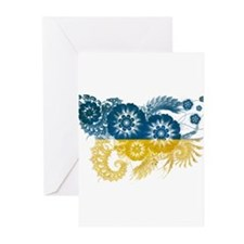 Ukraine Flag Greeting Cards (Pk of 10)