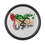 United Arab Emirates Flag Large Wall Clock