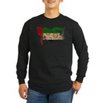 United Arab Emirates Flag Long Sleeve Dark T-Shirt