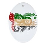 United Arab Emirates Flag Ornament (Oval)