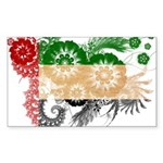United Arab Emirates Flag Sticker (Rectangle)