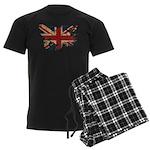 United Kingdom Flag Men's Dark Pajamas