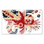 United Kingdom Flag Sticker (Rectangle 10 pk)