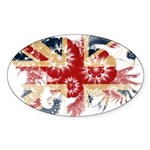 United Kingdom Flag Sticker (Oval 50 pk)