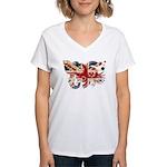 United Kingdom Flag Women's V-Neck T-Shirt