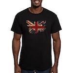 United Kingdom Flag Men's Fitted T-Shirt (dark)