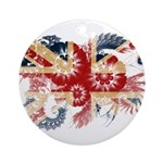 United Kingdom Flag Ornament (Round)