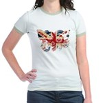 United Kingdom Flag Jr. Ringer T-Shirt