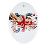 United Kingdom Flag Ornament (Oval)