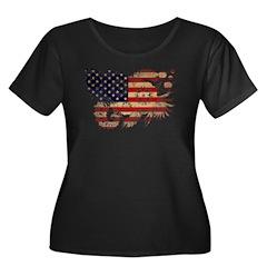 United States Flag Women's Plus Size Scoop Neck Da