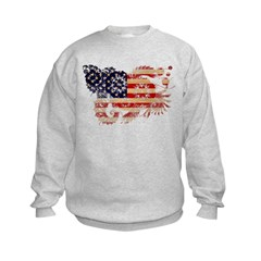 United States Flag Kids Sweatshirt