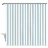 Painted Circles stripes blue Shower Curtain