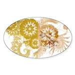 Vatican City Flag Sticker (Oval 10 pk)
