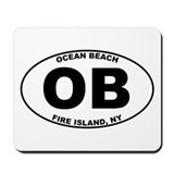 Ocean Beach Fire Island Mousepad