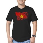 Vietnam Flag Men's Fitted T-Shirt (dark)