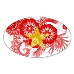 Vietnam Flag Sticker (Oval)