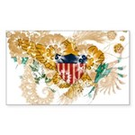 Virgin Islands Flag Sticker (Rectangle 10 pk)