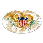 Virgin Islands Flag Sticker (Oval 50 pk)