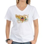 Virgin Islands Flag Women's V-Neck T-Shirt