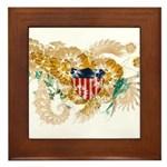 Virgin Islands Flag Framed Tile