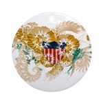 Virgin Islands Flag Ornament (Round)