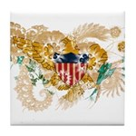 Virgin Islands Flag Tile Coaster