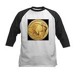 Black-Gold Buffalo Kids Baseball Jersey