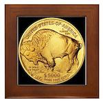 Black-Gold Buffalo Framed Tile