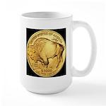 Black-Gold Buffalo RH Large Mug