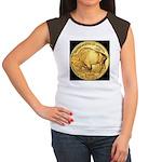 Black-Gold Buffalo Women's Cap Sleeve T-Shirt