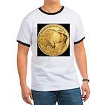 Black-Gold Buffalo Ringer T