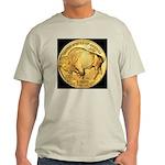 Black-Gold Buffalo Ash Grey T-Shirt