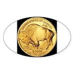 Black-Gold Buffalo Oval Sticker
