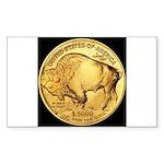 Black-Gold Buffalo Rectangle Sticker