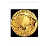 Black-Gold Buffalo Postcards (Package of 8)