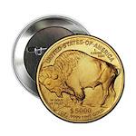 Black-Gold Buffalo Button